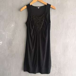 Black Dress with Beads
