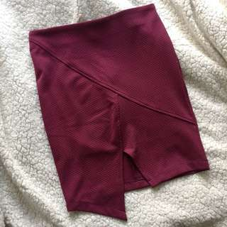 Asymmetrical skirt size 8