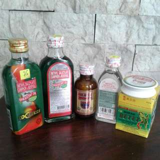 Assorted pain relief & liniment efficascent oil