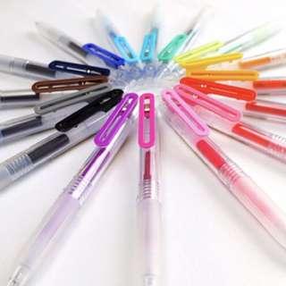 Muji Smooth Writing Pens