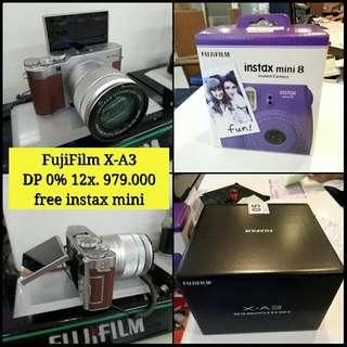 Fujifilm X-A3 DP 0% Gratis 1x cicilan