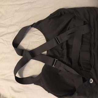 Lululemon sports bra size 4 black