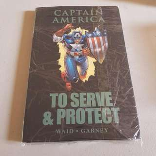 MARVEL PREMIERE EDITION - CAPTAIN AMERICA - TO SERVE & PROTECT HARD by Waid • Garney
