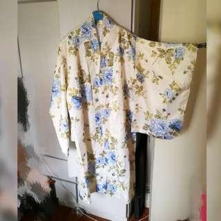 特平 藍茶花浴衣 (有靚暗花)