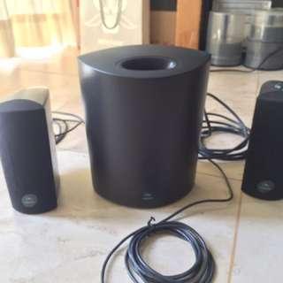 Logitech 2.1 電腦喇叭 連subwoofer speaker