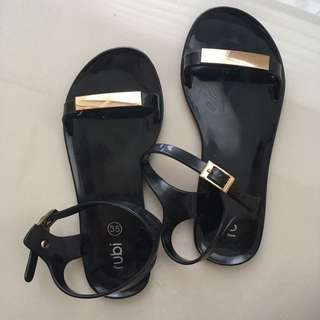 RUBI Jelly Sandals with Gold Details