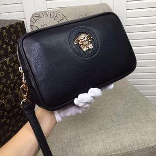 Versace Medusa Leather Pouch