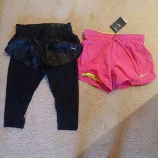 Nike AND Puma BNWT sports shorts XS/S