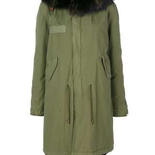 🚚 MR & MRS ITALY (Racoon nd Rabbit FUR) Army Parka