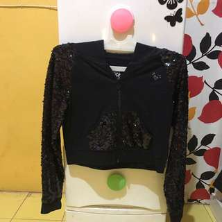 Jacket sequin justice size 10