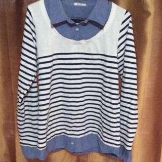 Cute Blue Stripes Polo