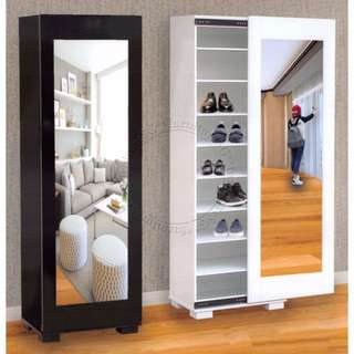 BN Shoe cabinet with sliding mirror
