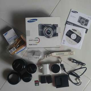 Samsung NX1000 with 3 lens