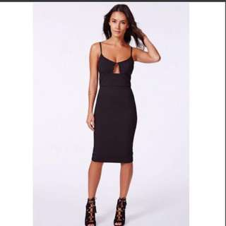 Missguided Black Midi Dress