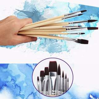 Brown Polyamide Brushes for Oil & Acrylics