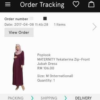 Maternity Yekaterina Zip-Front Jubah Dress