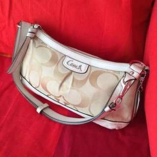 Almost brand new authentic coach bag with box and paper bag