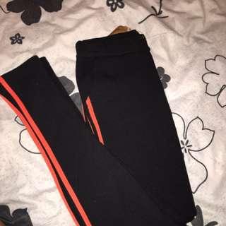 fluro orange jeggings / tights