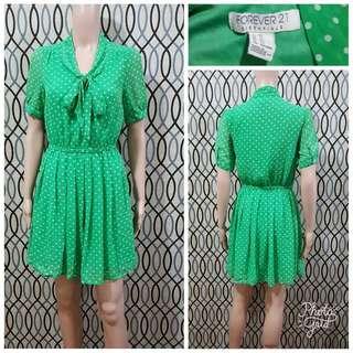 Forever 21 Green Polkadot Dress