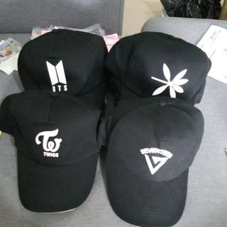 BTS/EXO/TWICE/SEVENTEEN CAP ~ READY STOCK