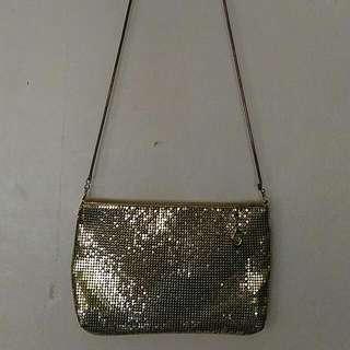 SALE! Metallic Gold Purse/ Sling Bag