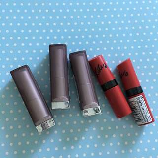 Maybelline and Rimmel Lipsticks