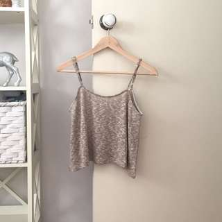 Mooloola knit swing crop top