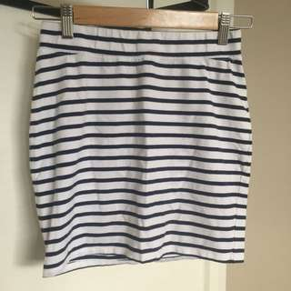 Miss shop striped mini skirt