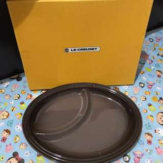 🈹 100% New Le Creuset Multi Oval Plate - Brown / Sepia with box 分隔碟 🍽