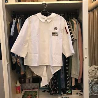 Unbranded Embroidered White Top