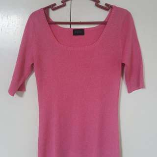 Pink Fitted Top