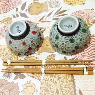 日式陶瓷碗筷組