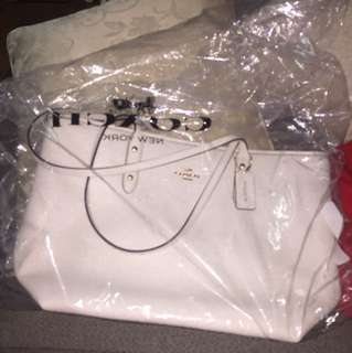 White Coach Handbag