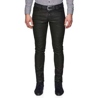 Politix Engineer Black Resin Denim Jeans, Size 30