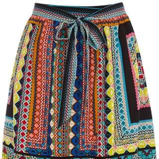 Warehouse Aztec skirt