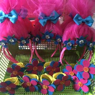 Poppy Trolls Headband & Bracelet