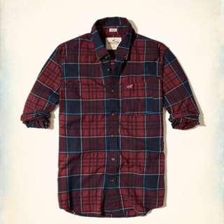 小麥代購全新S/M號Hollister hco格子襯衫 型男必備