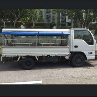 From $33/ day. Economy/ Budget/ Cheap 10ft Lorry Rental, Diesel, With Rear Full Canopy For Short or Long Term Rental