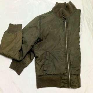 Army Green Bomber Jacket (Unisex)