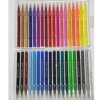 Watercolor Brush Pens (12-36 pcs)