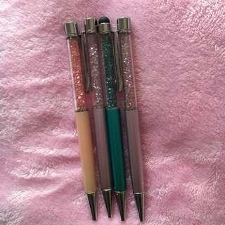 Crystal Pens Purple Pink Emerald