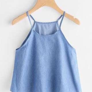 Blue Sleeveless Too