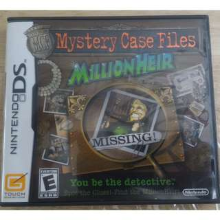 NDS Mystery Case Files: MillionHeir