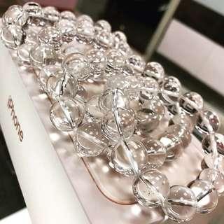 白水晶手珠 約13mm