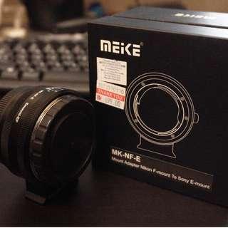 Meike Mount Adapter Nikon F-mount to Sony E-mount