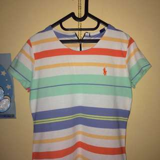 RE-PRICE Stripe Polo T-shirt