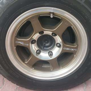 "Lenso 15"" Wheels with Tyre"