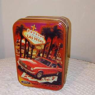 Vintage Ford Mustang Tin Box
