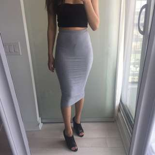 Suede Bodycon Skirt