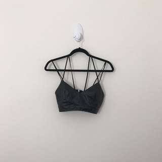 Black Leather Bralette